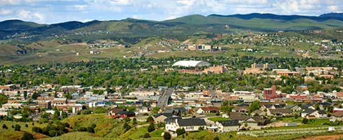 Arial view of Pocatello, Idaho