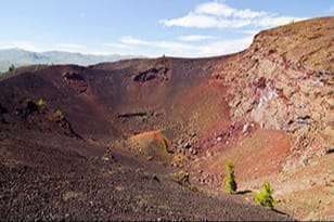 Volcanic crater at the Moon National Monument & Preserve near Arco, Idaho