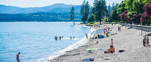 City Park And Beach, Coeur d'Alene, Idaho