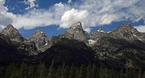 Grand Teton Mountains in Teton County, Idaho