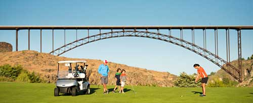 Golfing at Blue Lakes Country Club, Twin Falls, Idaho